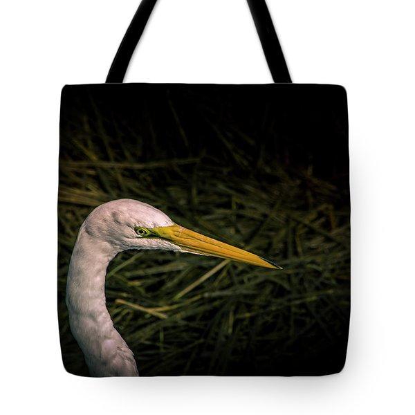 Heron Head Tote Bag