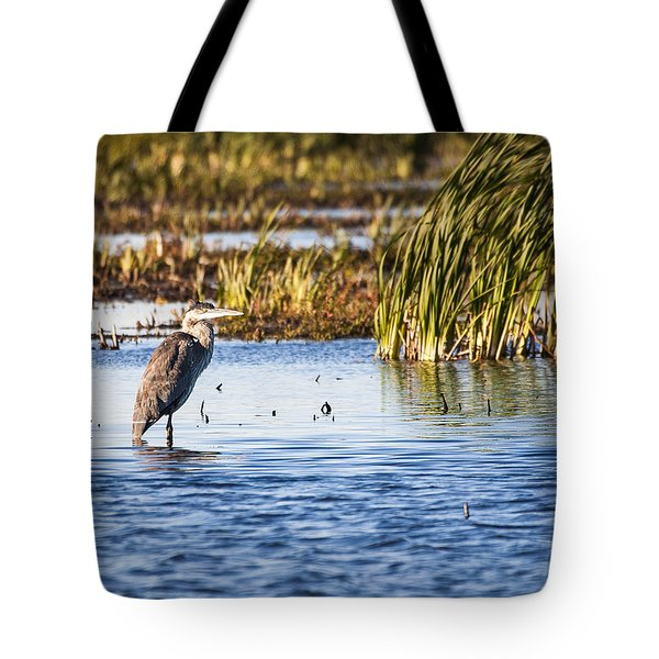 Heron - Horicon Marsh - Wisconsin Tote Bag by Steven Ralser