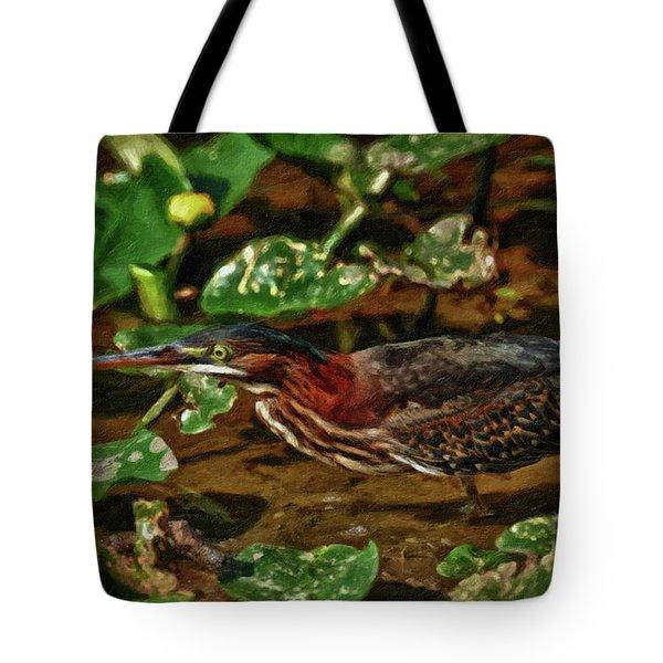 Heron Impasto Tote Bag