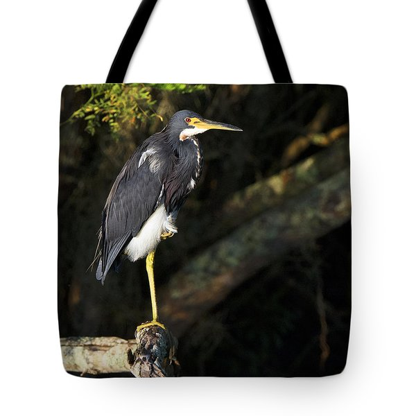 Heron In The Light Tote Bag