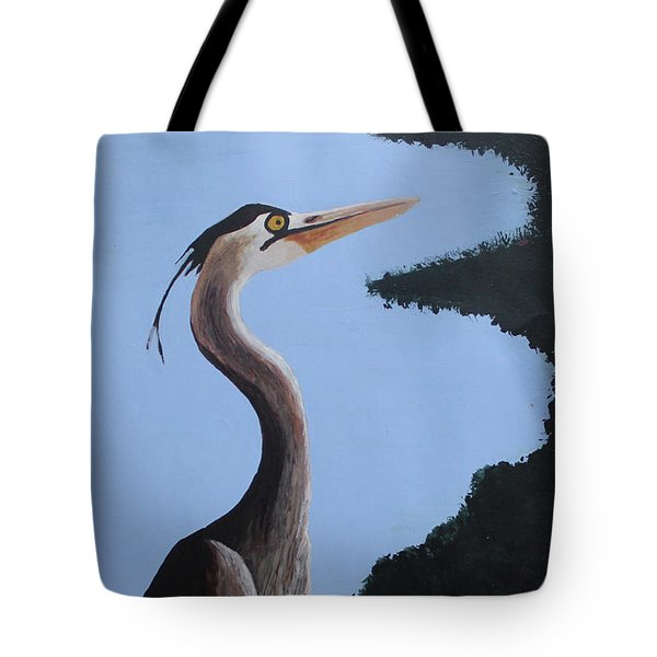 Heron In The Trees Tote Bag