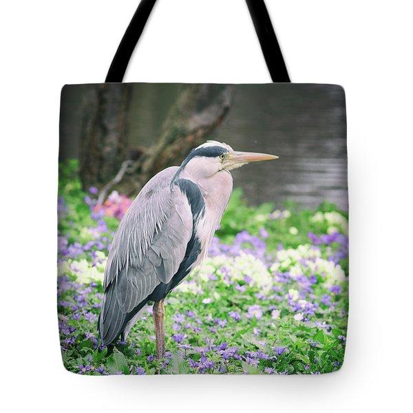 Heron Lookout Tote Bag