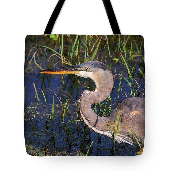 Heron Macro Tote Bag