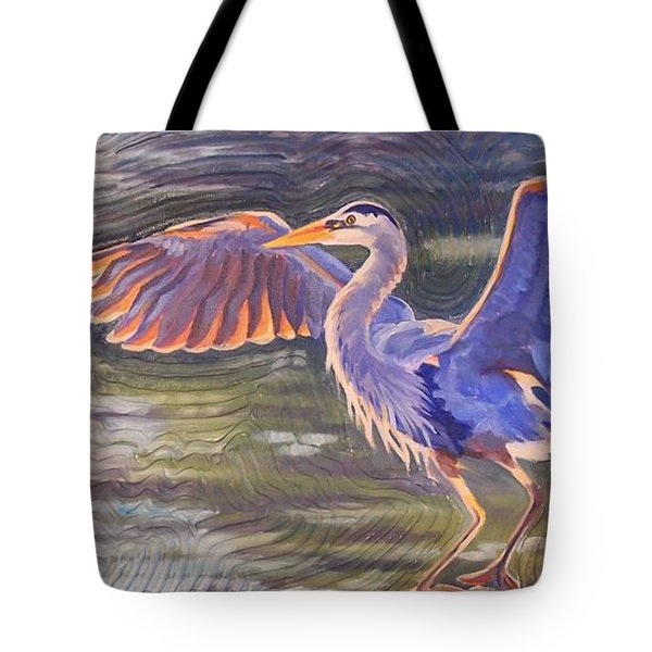 Heron Majesty Tote Bag