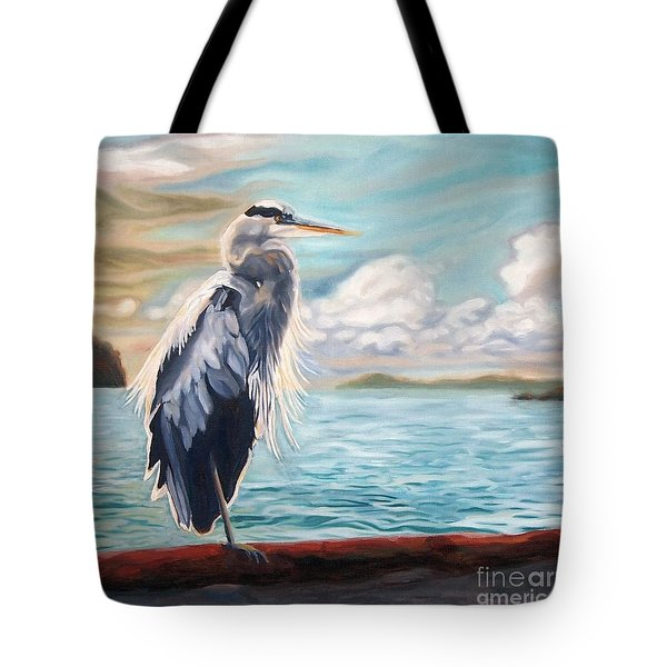 Heron Mystique Square Tote Bag