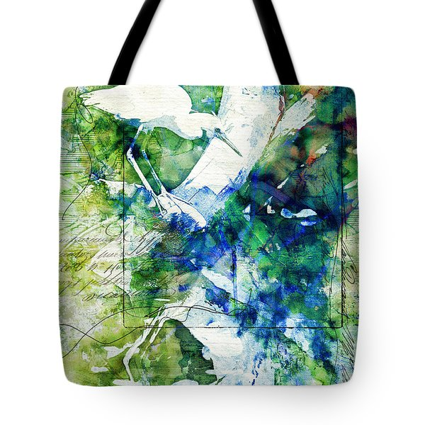 Heron On A Branch Tote Bag