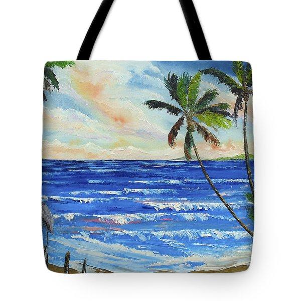 Heron On The Beach Tote Bag