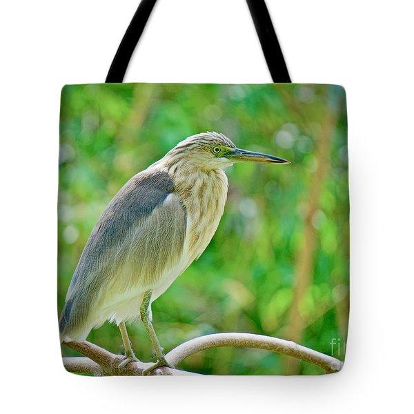 Heron On The Edge Tote Bag