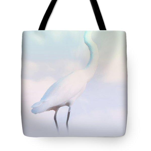 Heron Or Egret Stance Tote Bag by Joseph Hollingsworth