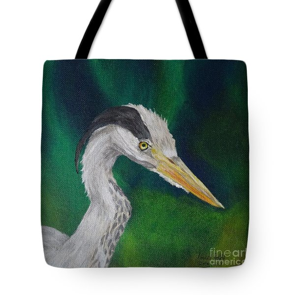 Heron Painting Tote Bag by Isabel Proffit