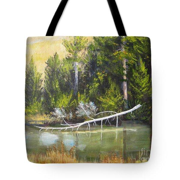 Heron Perch Tote Bag