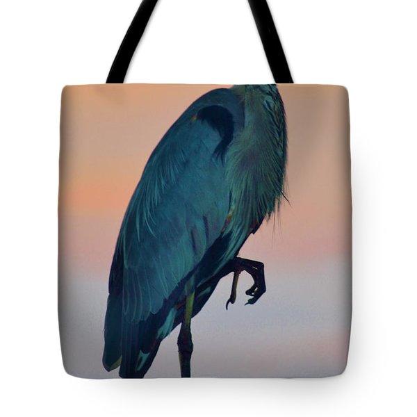 Heron Posing 1 Tote Bag