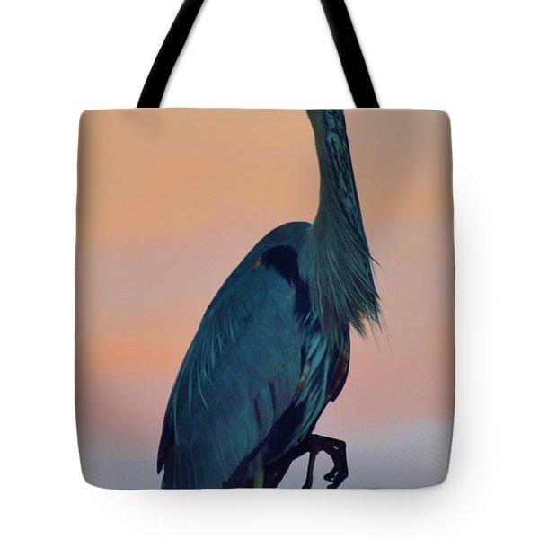Heron Posing 2 Tote Bag