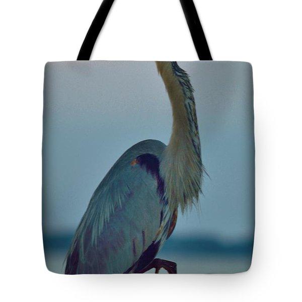 Heron Posing 3 Tote Bag