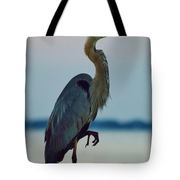 Heron Posing 4 Tote Bag