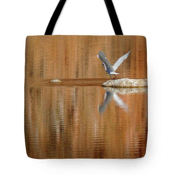 Heron Tapestry Tote Bag by Evelyn Tambour