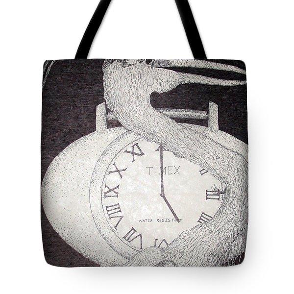 Heron Time Tote Bag