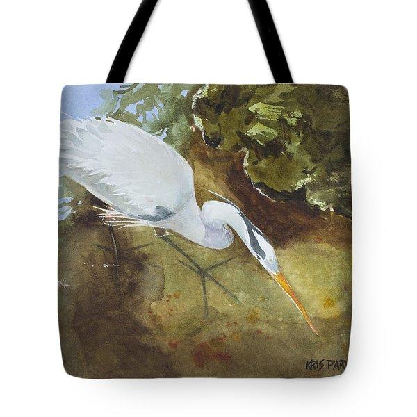 Heron Under The Bridge Tote Bag