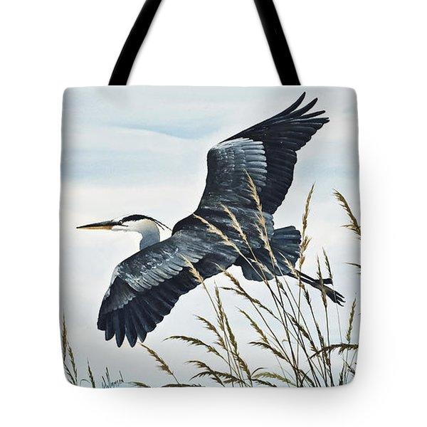 Herons Flight Tote Bag by James Williamson