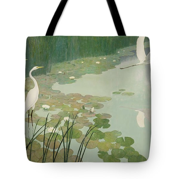 Herons In Summer Tote Bag by Newell Convers Wyeth