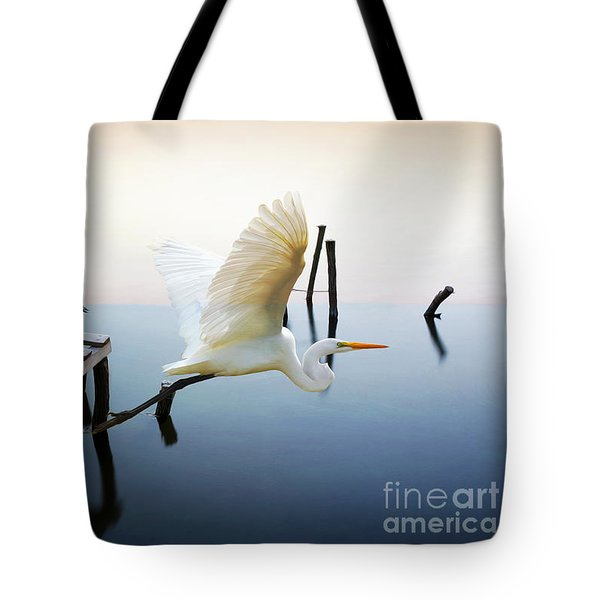 Herons On Patrol Tote Bag