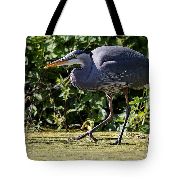 Tote Bag featuring the photograph Herons Pond by Sue Harper