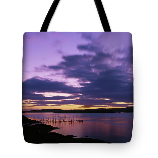Herring Weir, Sunset Tote Bag