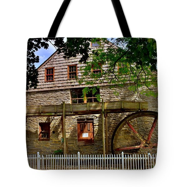Tote Bag featuring the photograph Herr's Grist Mill by Lisa Wooten
