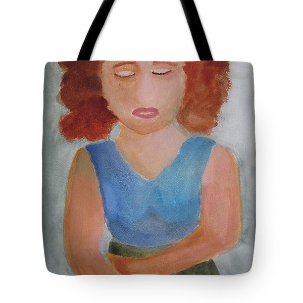 Tote Bag featuring the painting Herself by Sandy McIntire