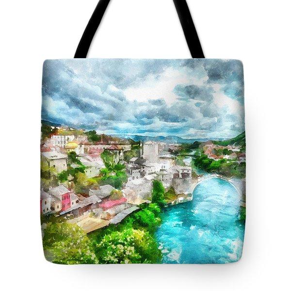 Herzegovina Vista Tote Bag by Shirley Stalter