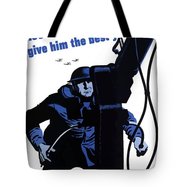 He's A Fighting Fool - Give Him The Best You've Got Tote Bag