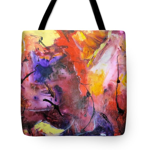 Hes Fire Mountain Tote Bag