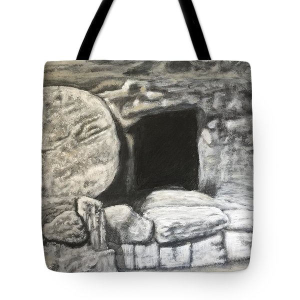 He's Not Here Tote Bag