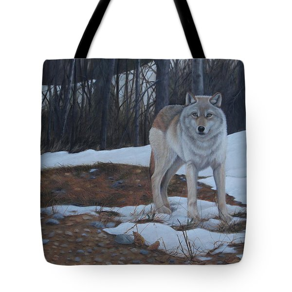Tote Bag featuring the painting Hesitation by Tammy Taylor