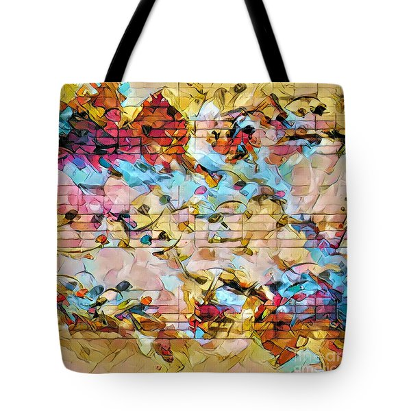 Heterophony Squared 2 Tote Bag by Lon Chaffin