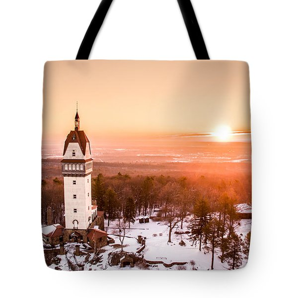 Heublein Tower In Simsbury Connecticut Tote Bag by Petr Hejl