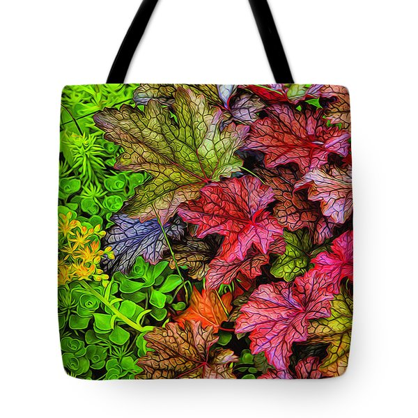 Heuchera And Sedum Tote Bag
