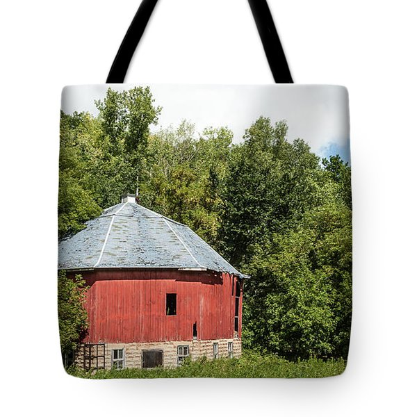Tote Bag featuring the photograph Hexagon Barn by Dan Traun