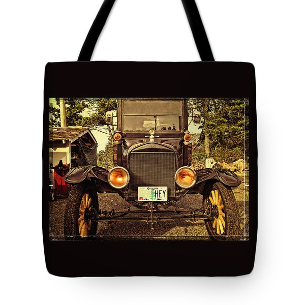 Hey A Model T Ford Truck Tote Bag