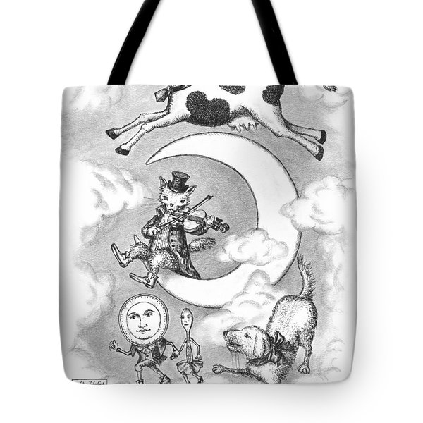 Hey Diddle Diddle Tote Bag by Adam Zebediah Joseph