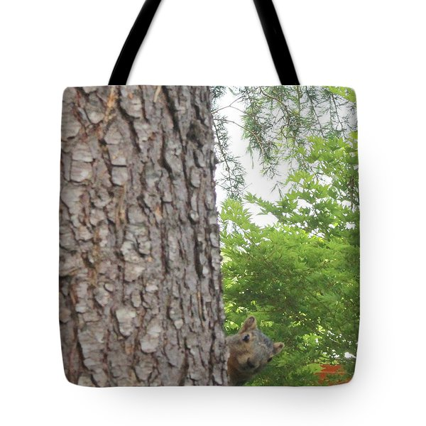 Tote Bag featuring the photograph Hey Down Here by Marie Neder