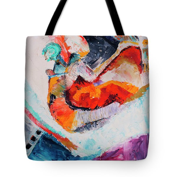 Hey Mr. Spaceman Tote Bag by Stephen Anderson