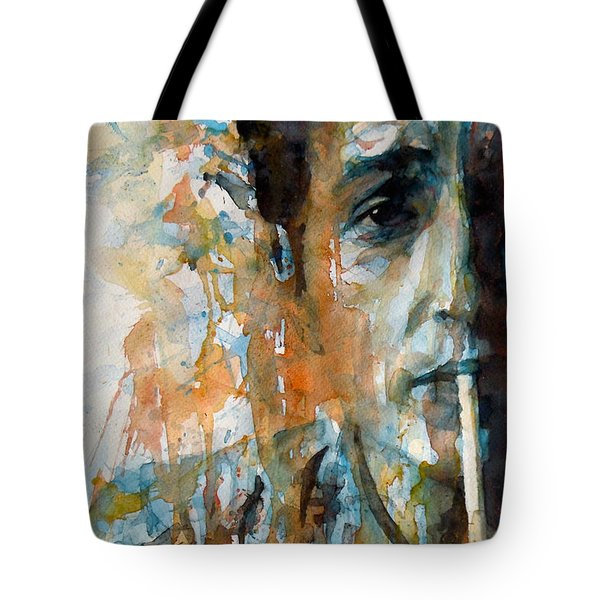 Hey Mr Tambourine Man @ Full Composition Tote Bag by Paul Lovering