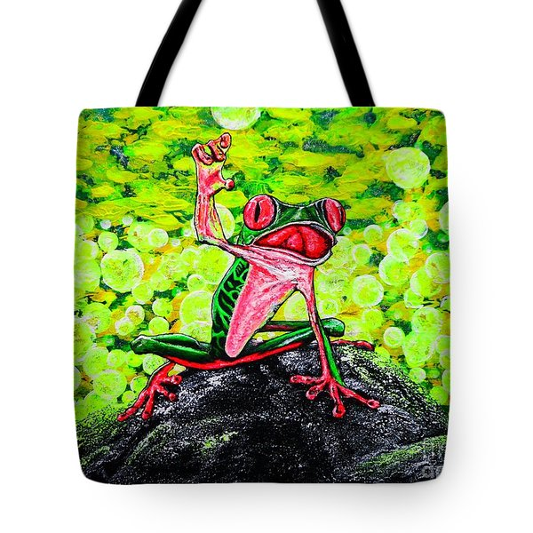 Tote Bag featuring the painting Hey  People by Viktor Lazarev