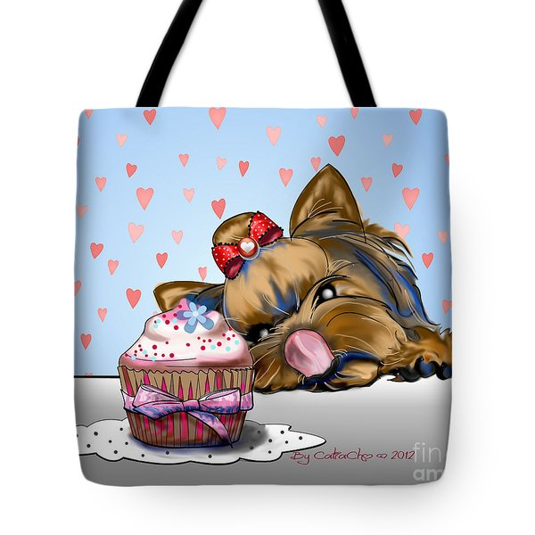 Hey There Cupcake Tote Bag by Catia Cho