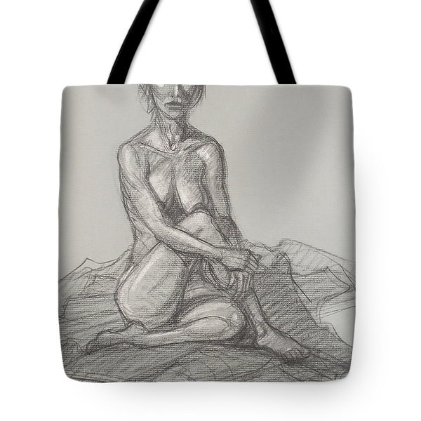Hey Yong Seated Tote Bag by Donelli  DiMaria