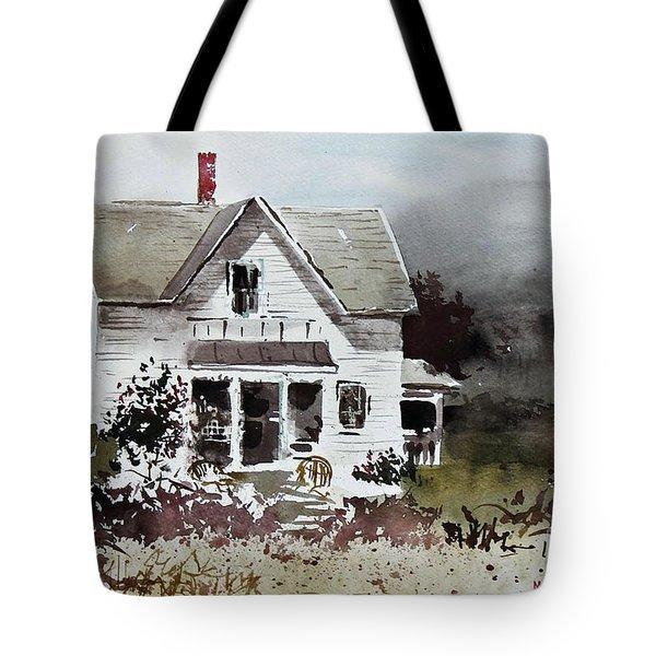 Heyl House, Minneapolis, Kansas Tote Bag by Monte Toon