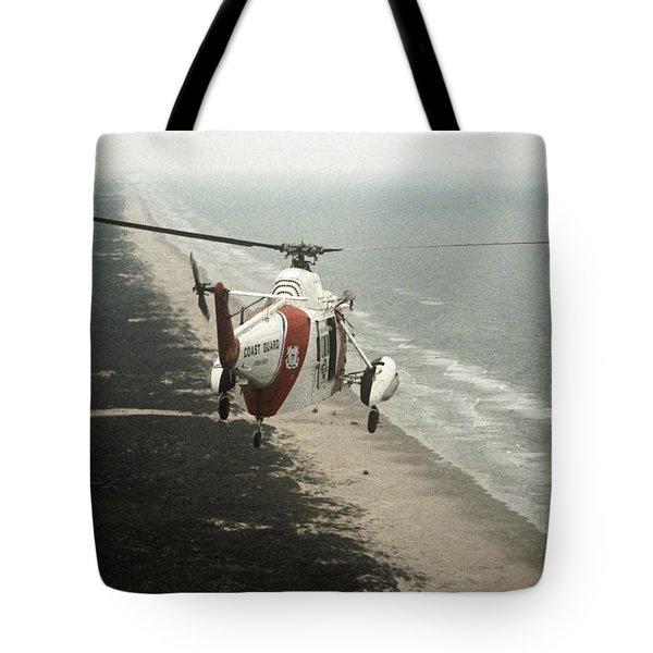 Hh-52a Beach Patrol Tote Bag by Steven Sparks