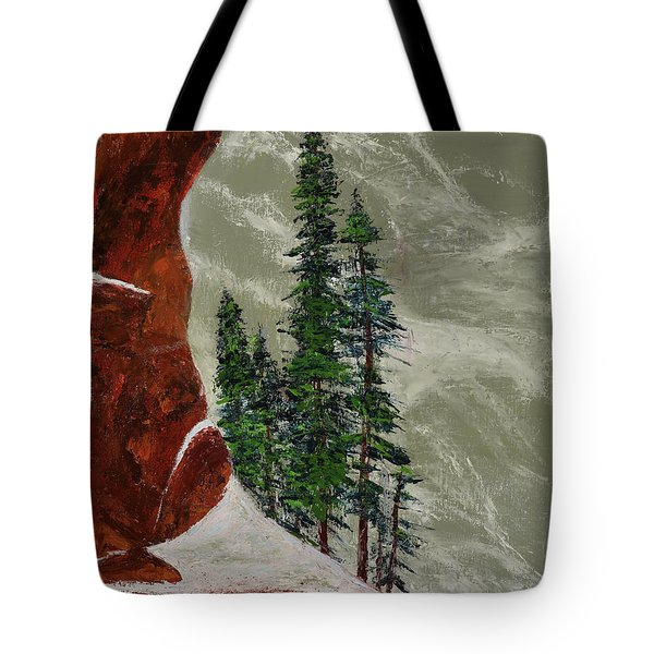 Hi Mountain Pine Trees Tote Bag