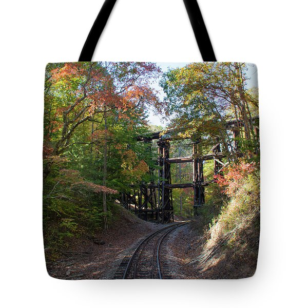 Hiawassee Loop Railroad Trestle Tote Bag